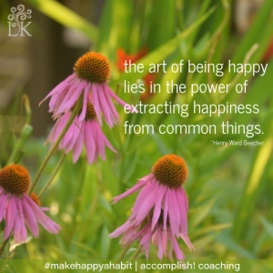 Happiness from Common Things